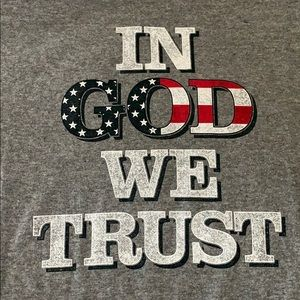 """""""In God We Trust"""" Stars and Stripes T-Shirt"""